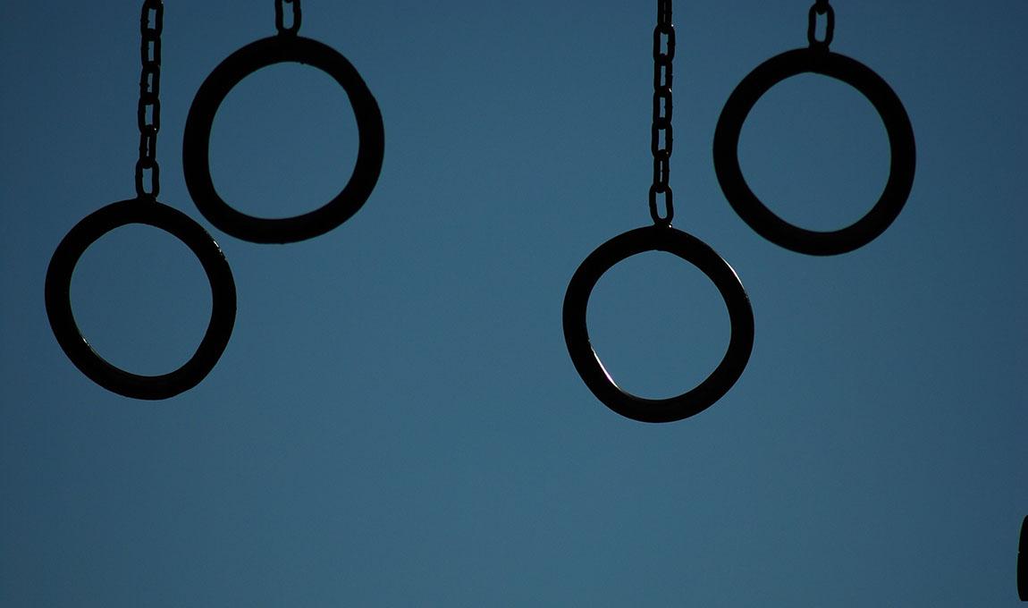 gym rings sky