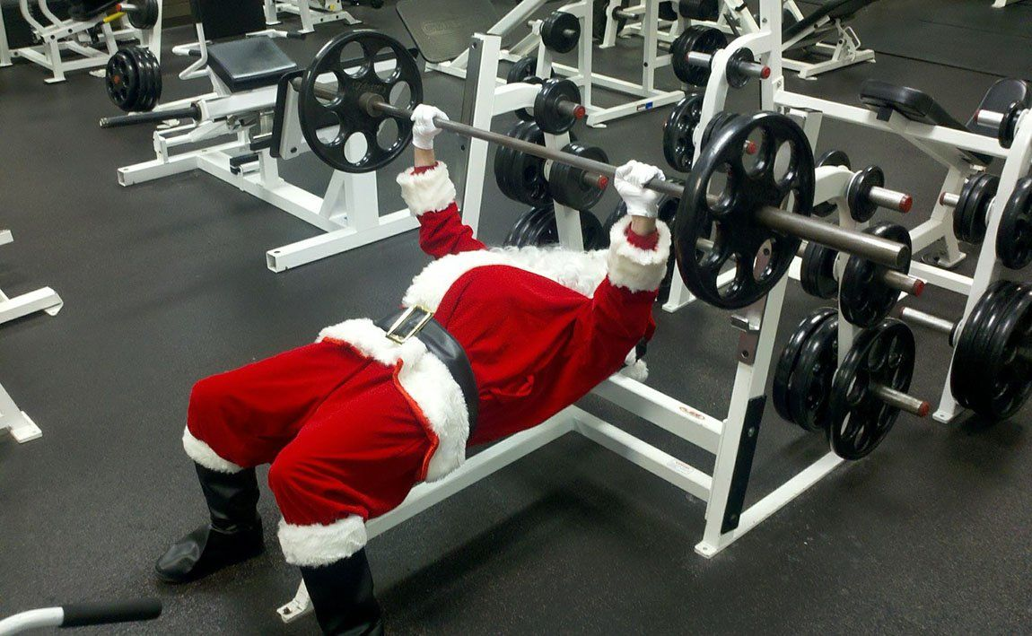 Santa Clause bench press