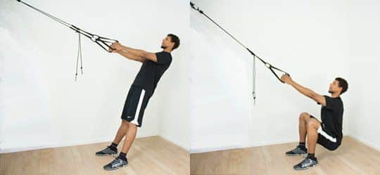 The aeroSling ELITE helps you with squats