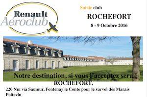 Sortie Rochefort les 8 et 9 octobre