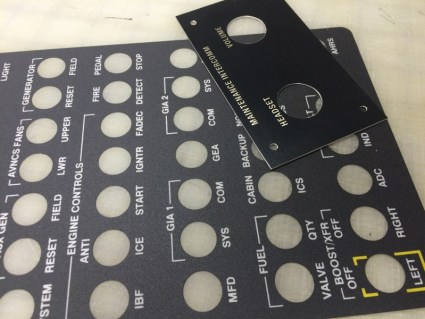 Aircraft Control Panels, Control Panel Placards