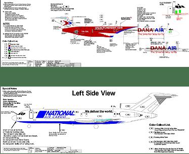 Aircraft Paint Scheme Design