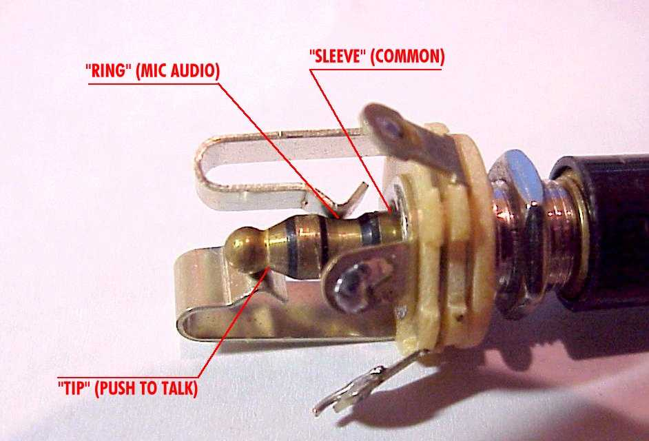 Aircraft Microphone Jack Wiring