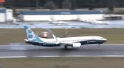 Momento do pouso. Foto - Transmissão Online / Boeing