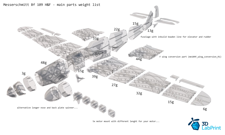 Messerschmitt Bf 109 F Or H Plans