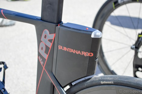 Quintana Roo was showing off their new integrated storage option for the PR6. Check out the light that's built right in!