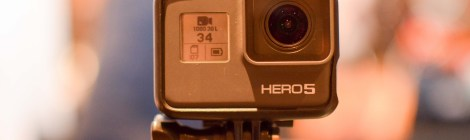 The Hero 5 Black is now waterproof to 33 feet without a case. It also includes 3 microphones for increased sound, a GPS chip for location awareness, voice control, and video stabilization