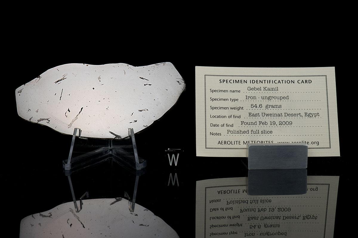 Gebel Kamil 54.6 Grams with specimen card