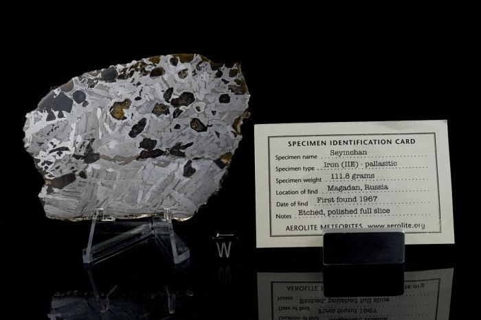 Seymchan 111.8 Grams with specimen id card