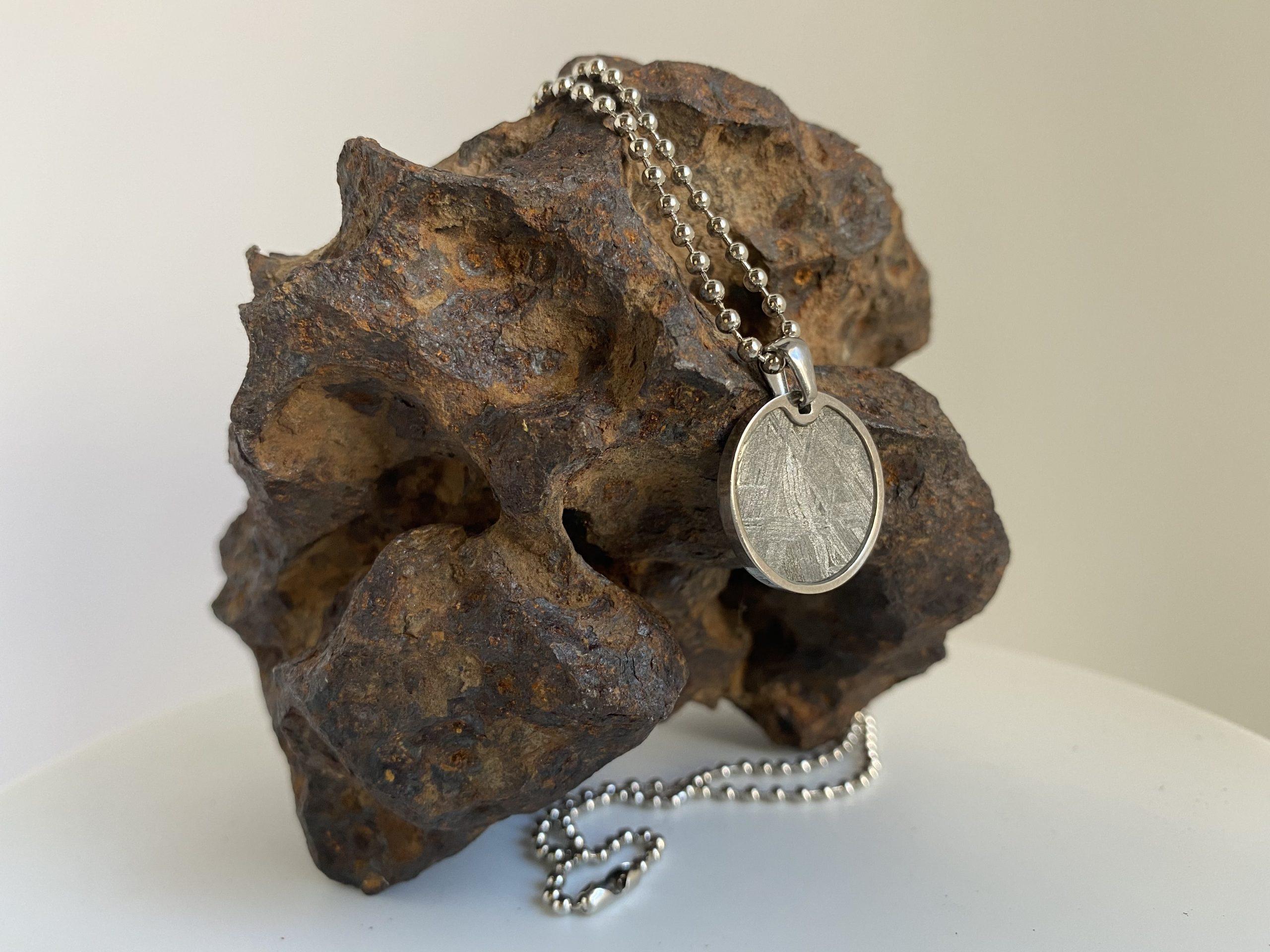 iron meteorite necklace