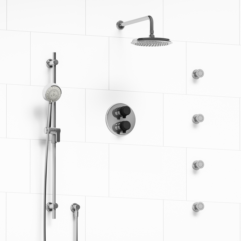 Momenti - Type T/P double coaxial system with hand shower rail, 4 ...