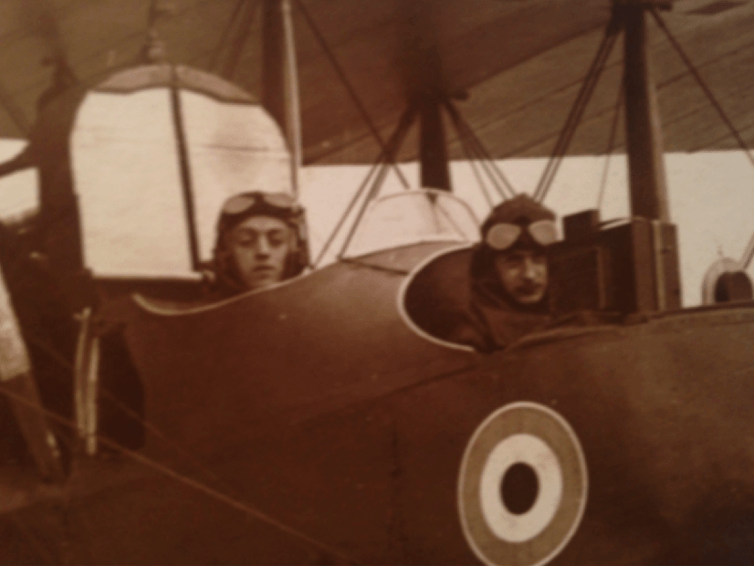 William Farren y David Pinsent. Pinsent family archive
