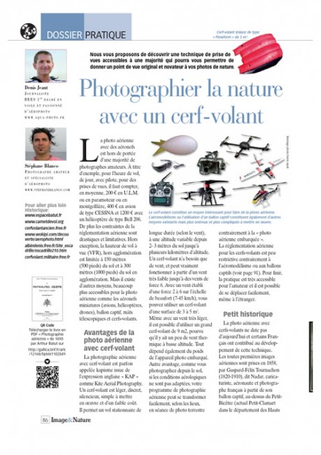 Page 1 article cerf-volant Image & Nature n°54