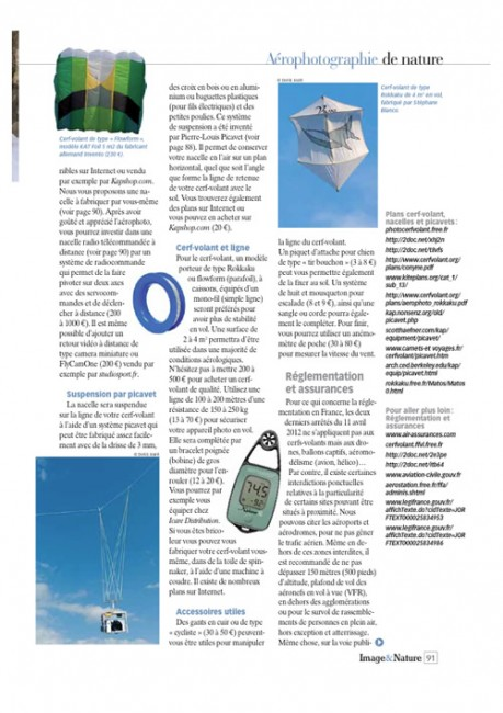 Page 4 article cerf-volant Image & Nature n°54