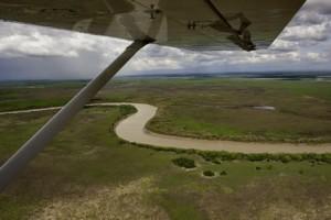 Prise de vues aériennes en avion