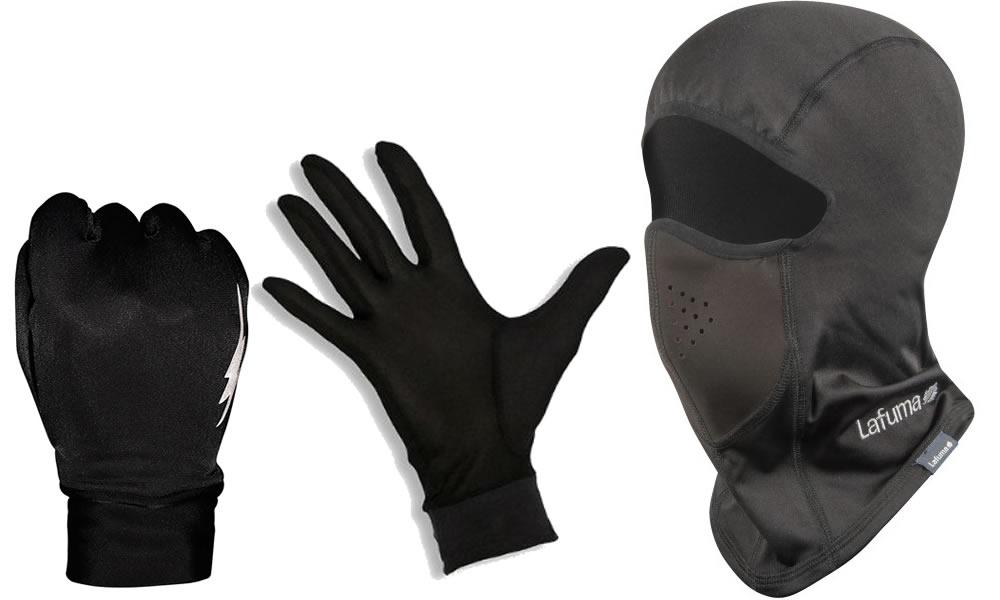 cagoule et sous-gants