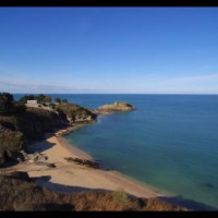 Aerial movie of Gros-Rocher at Belle-isle-en-mer  - march & august 2016