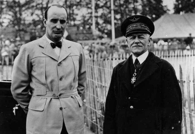 Michel Détroyat et le général Joseph Tulasne.