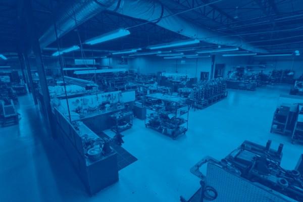 stylized image of shop floor