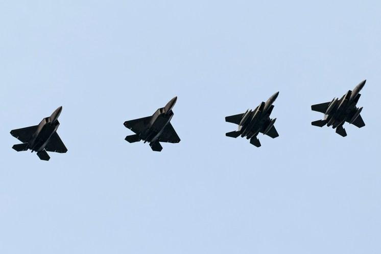 © Duncan Monk - Formation returns - F-22 Raptor Deployment to RAF Lakenheath