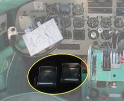Rudder pedals on a DC-3