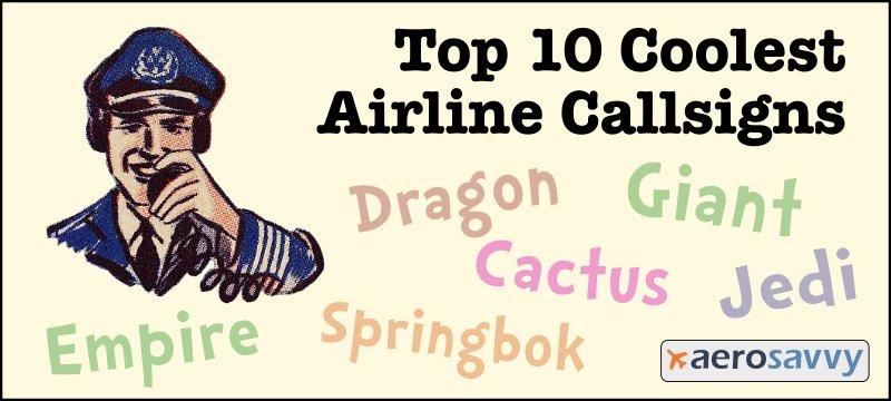 Top 10 Airline Callsigns - AeroSavvy