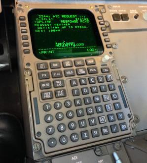 FMC CDU Control Display Unit