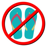 No Flip-Flops during an aircraft evacuation