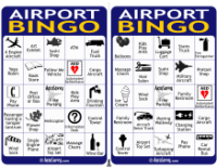 Airport Bingo Cards 3-4