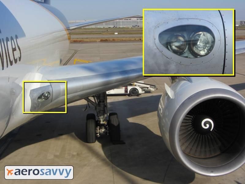 767 Landing and Turnoff Lights - Savvy Passenger Guide to Airplane Lights- AeroSavvy