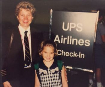 UPS Captain Terry Donner and daughter. UPS Passenger Flights - AeroSavvy