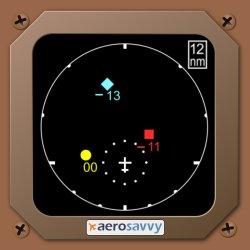 TCAS Display - UPS Passenger Flights - AeroSavvy