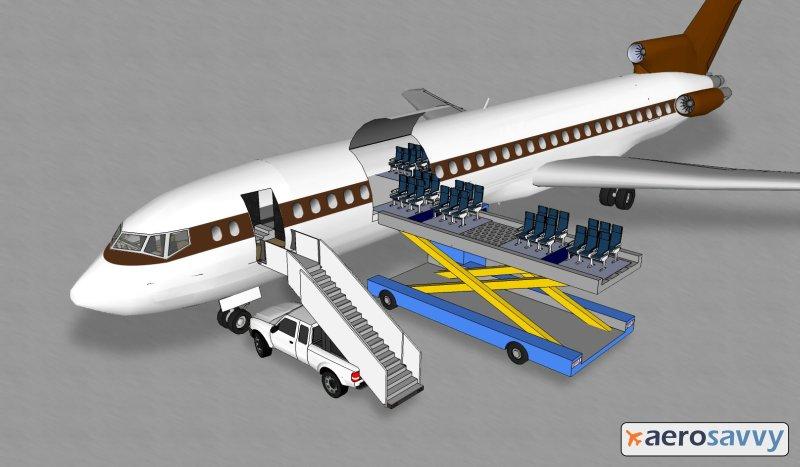 727 Quick Change - UPS Passenger Flights - AeroSavvy