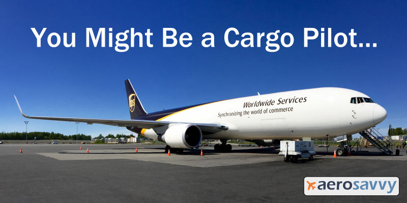 Boeing 767-300 freighter on apron in Anchorage. You might be a cargo pilot... - AeroSavvy