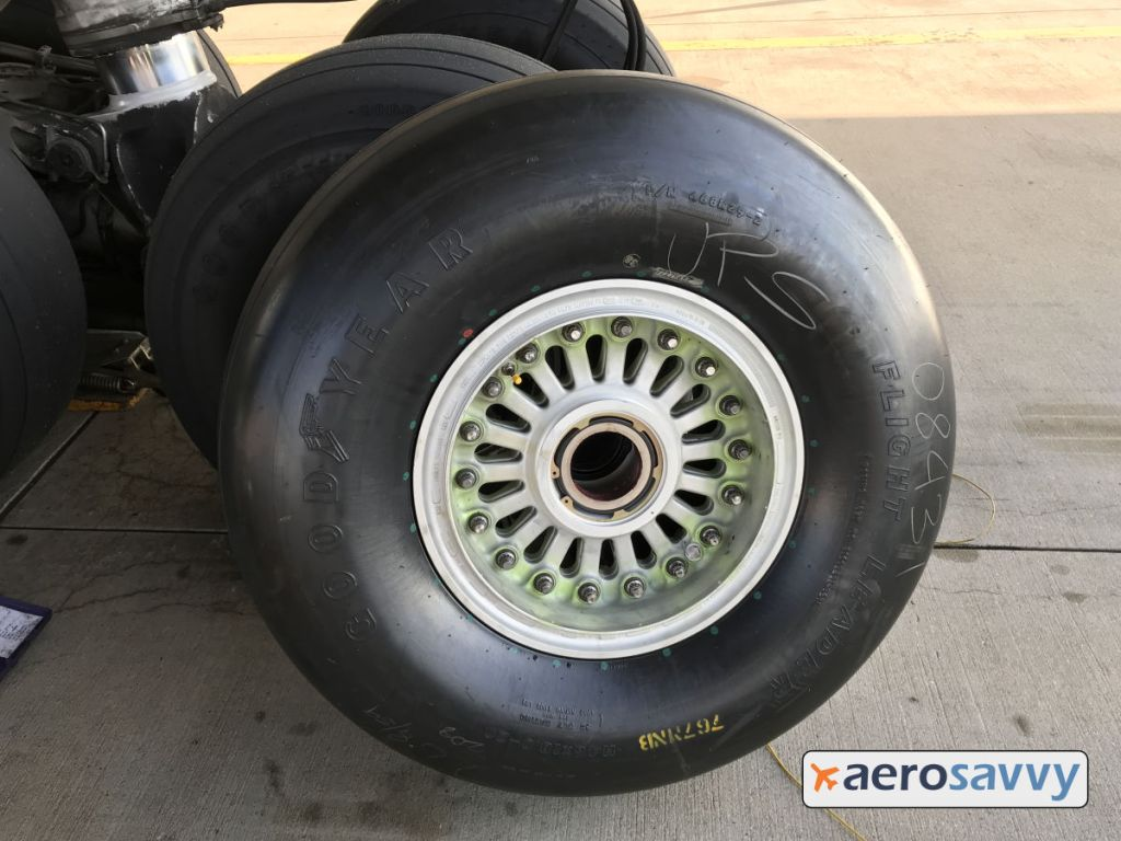 Photo of the brand new main gear tire.