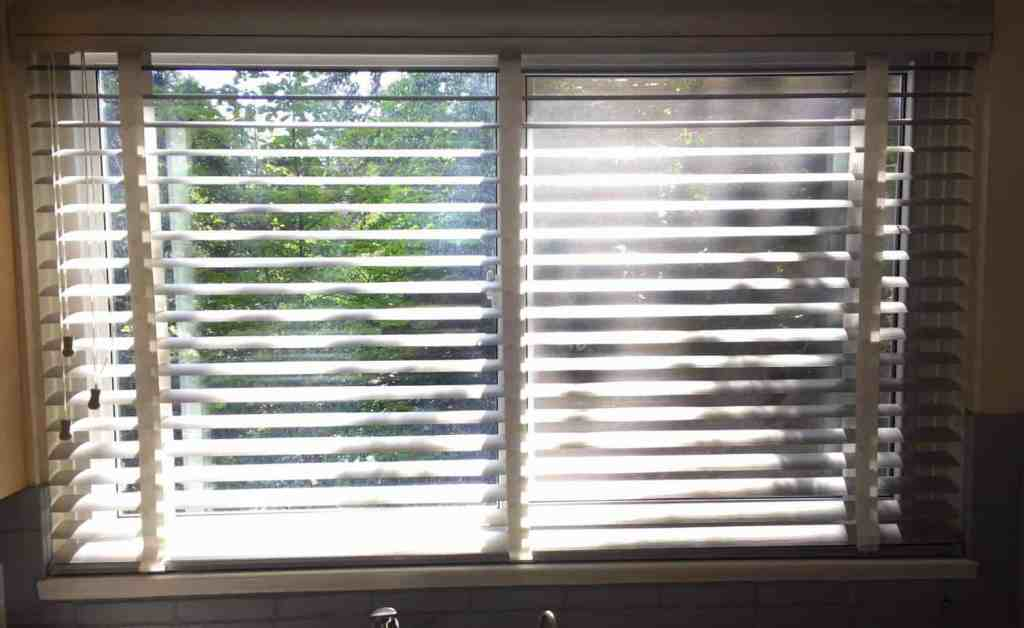 PERFORATED METAL BLIND OPEN