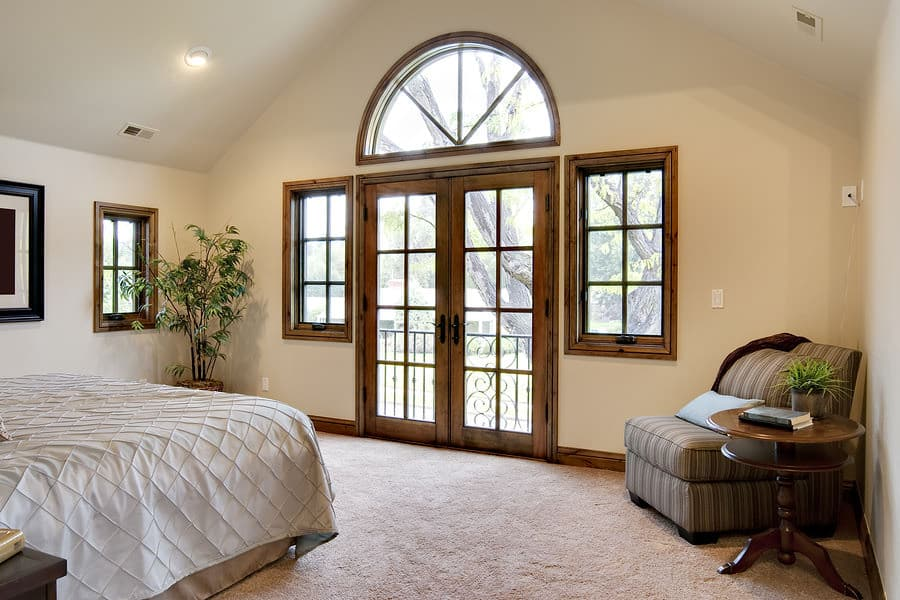 French Door that needs enhancement from designer blinds