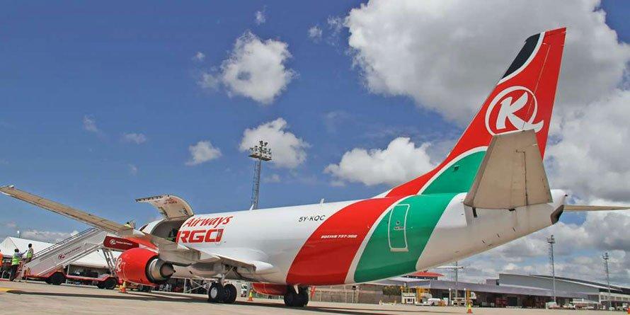 A KQ cargo plane