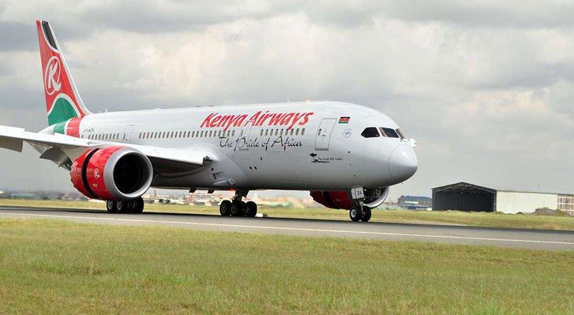 A Kenya Airways aircraft