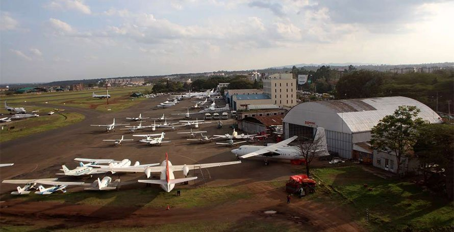 Aircrafts parked at Wilson Airport
