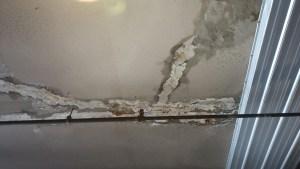 water leakage in repaired slab