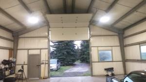 Steel farm building at Foothills Alberta