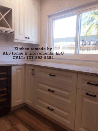 Kitchen remode by AES Home Improvements, LLC CALL: 727-592-9284