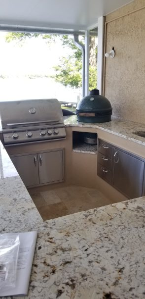 Outdoor kitchen remodel by aes home improvements, tampabay fl