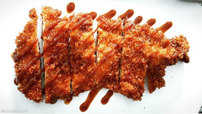 Crispy Chicken Katsu with Tonkatsu Sauce