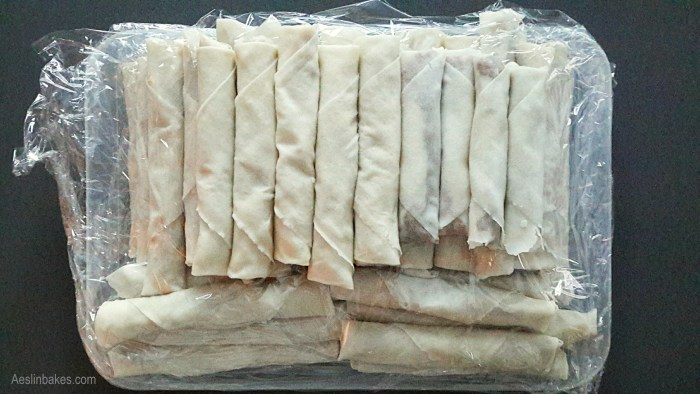 Lumpiang Shanghai ready for frying