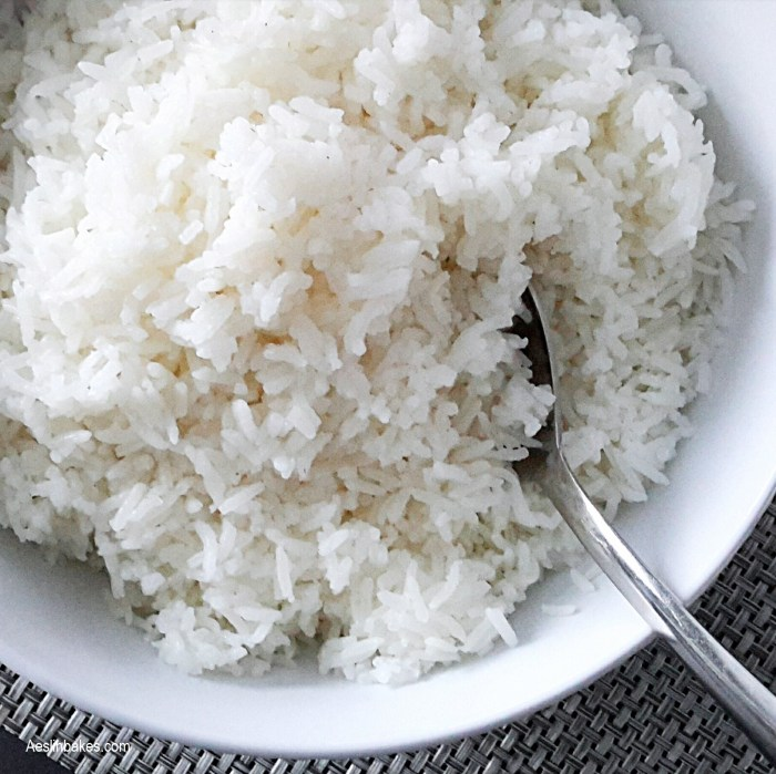 side dishes - Steamed white rice