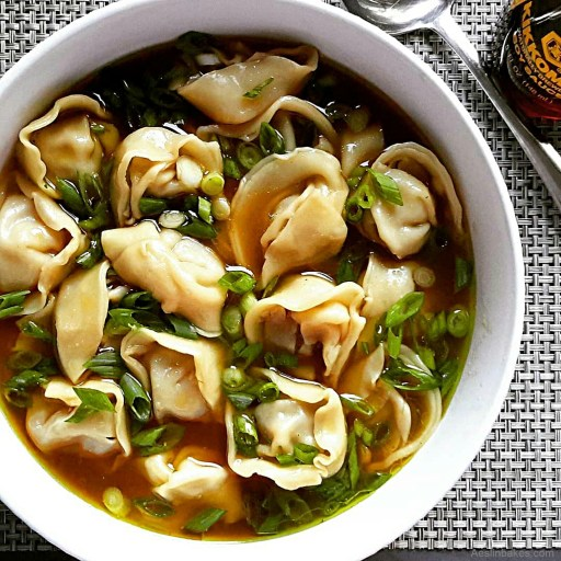 Beefy Wonton Soup with Miso 1
