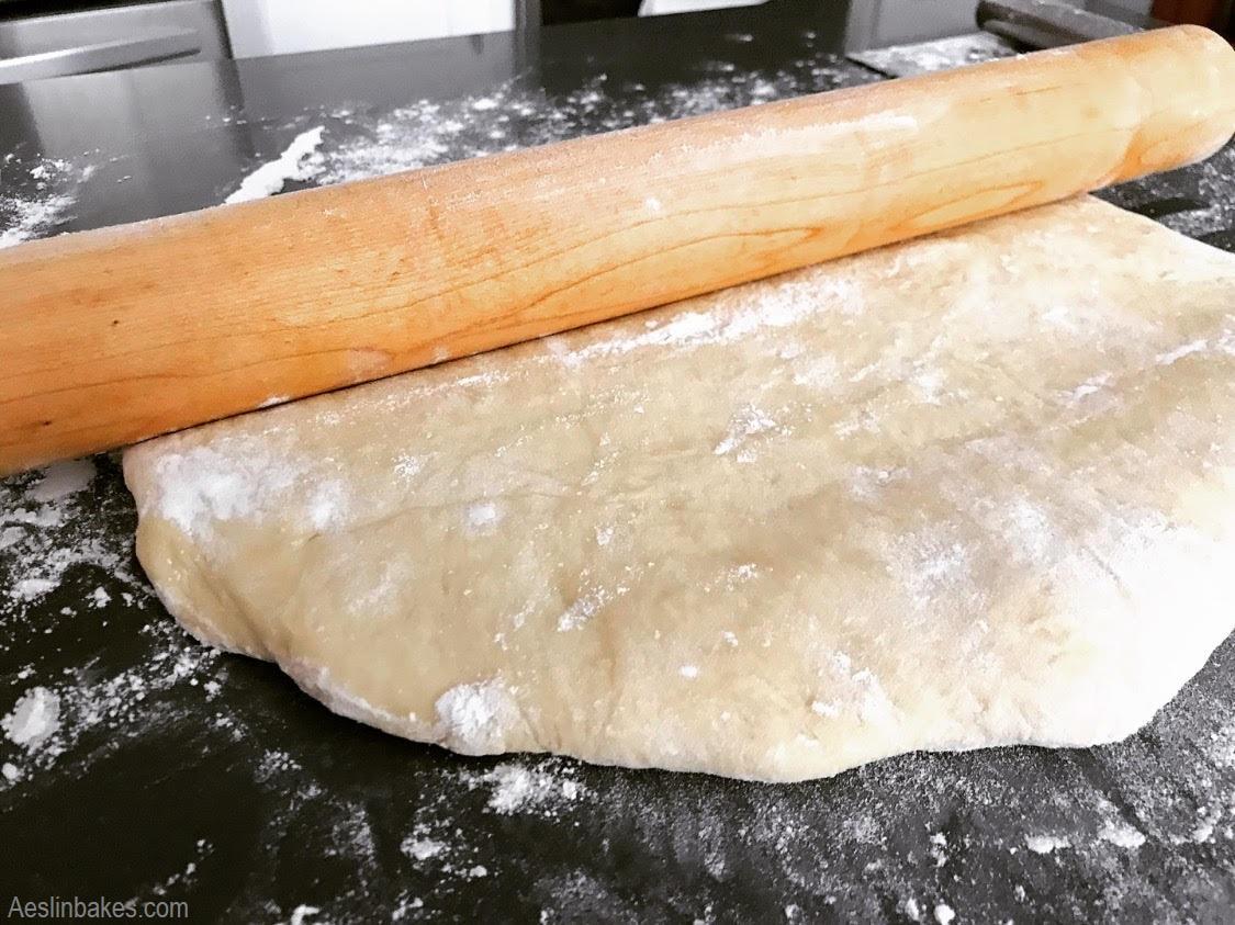 Well-floured dough to prevent stickiness