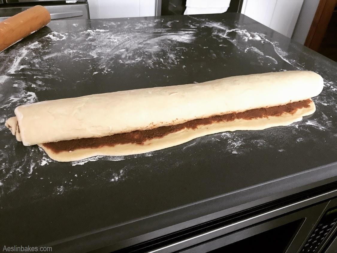 Rolll the dough fairly snug